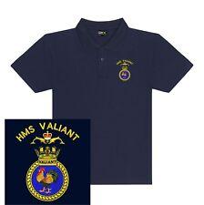 HMS VALIANT Ricamato Polo Camicie