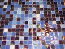 1.5x1.5 PERLMUTT / IRIDIUM Mosaik MIX BLAU 1 qm MRY346qm