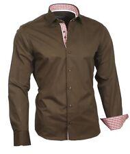 Herrenhemd Hemd Shirt Oberhemd Langarm Binder de Luxe 80717 braun