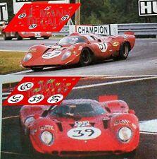 Calcas Ferrari 312P Le Mans 1970 39 57 1:32 1:43 1:24 1:18 312 decals