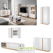 Mobili soggiorno NOA bianco parete attrezzata porta tv vetrina moderno design