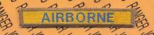 US Army AIRBORNE blue tank armor tab patch