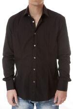 Camicia Daniele Alessandrini Shirt -60% Uomo Nero C1268B5003206-1 SALDI
