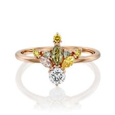 Gorgeous Women Rings Rose Gold Filled Peridot Birthstone Wedding Ring Size 6-10