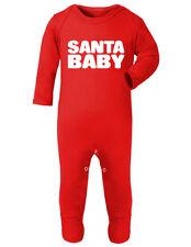 SANTA BABY-Natale Xmas-baby sleepsuit Romper