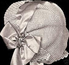Vintage Antique Crochet PATTERN to make Girls Child Cap Hat Bonnet ColumbiaGirls
