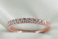 Diamond Wedding Ring band 0.35 Ct Round Cut 14k Rose Gold Anniversary Jewelry