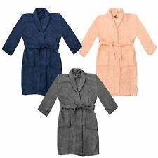 Accappatoio da Donna Pigiama in Cotone Toweling Bath Robe 2 Tasche Vestaglia