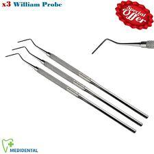5-PCs Dental Diagnostic Instrument William Probe & Scalpel Handle.4 Dentistry CE