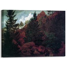 Caspar rocce in montagna design quadro stampa tela dipinto telaio arredo casa
