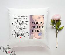 Madre Mamá significa mundo cita Personalizado Almohada Cojín Foto Regalo Personalizado