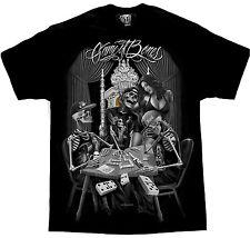 DGA Game of Bones Mens Black T Shirt Tattoo Urban Streetwear