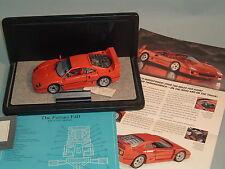 1989 FERRARI  F40 RED FRANKLIN MINT 1:24 DIECAST WITH DISPAY CASE