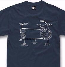 Funny Bicycle T Shirt Gift Bike Cycling Rider  S - 5XL