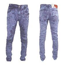 Mens camouflage jeans, Peviani star denim, hip hop g slim-straight fit purple
