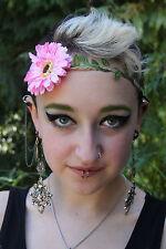 Pretty Daisy Floral Flower Festival Wedding Garland Forehead Hair Head Band