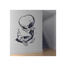 Alien Drinking In Bar UFO Planeten En Ruimte Muursticker Zonnestelsel  WS-18410