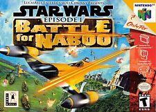 ***STAR WARS BATTLE FOR NABOO N64 NINTENDO 64 GAME COSMETIC WEAR~~~