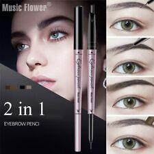 Dark Grey Brown Eyeliner Pencil Longlasting Waterproof Music Flower Eyebrow Pen