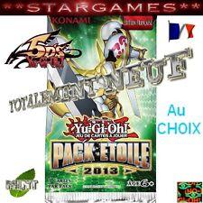 YU-GI-OH! PACK ETOILE ⓃⒺⓊⒻ CARTES AU CHOIX NEUVES MINT STARFOIL ET COM FRANCAIS