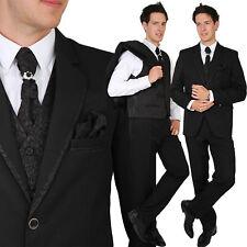 Herren Anzug 6Teiler Regular Bräutigam Hochzeit Zier-Stein Weste Hose Krawatte