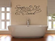 Soap Body Laughter Soul Bubbles Bathroom Shower Bath Decal Wall Art Sticker