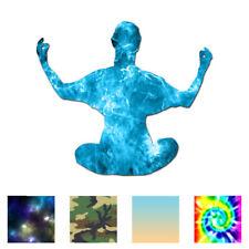 Yoga Meditation Monk - Vinyl Decal Sticker - Multiple Patterns & Sizes - ebn764