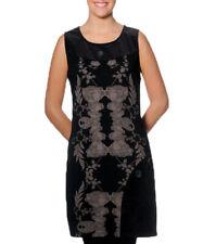 Smash Barcelona S-XXL UK 10-18 RRP ?47.50 Placebo Dress Black Fawn Floral Shift