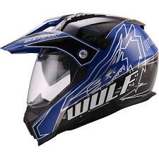 Wulfsport PrimaX Adventure Motocross Dual Sport MX Helmet Inner SUN Visor Blue