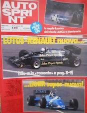 Autosprint 7 1983 Lotus Renault nuova, Lieger super-nuova. R 5 turbo 'Corse'