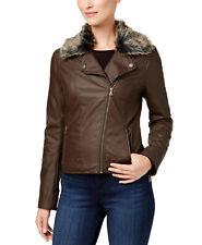 Celebrity Pink Juniors' Faux-Fur-Collar Faux-Leather Moto Jacket