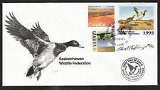 CANADA SASKATCHEWAN # SW4 WILDLIFE CONSERVATION 1993 FIRST DAY COVER