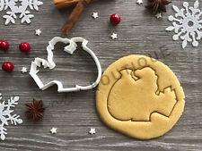 Santa Cookie Cutter 09 | Christmas | Fondant Cake Decorating | UK Seller