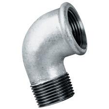 """En acier galvanisé bsp mâle x fem coude fileté industrielle tuyauterie 1/4"""" à 2"""""""