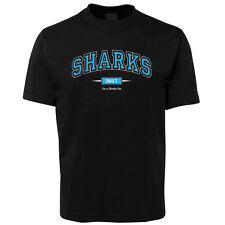 New I'm a Sharks Fan Black T Shirt 100% Cotton Size S -5XL +7XL