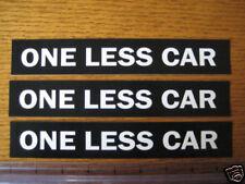 One Less Car Sticker Ebay