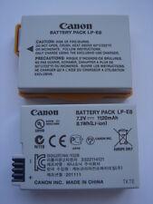 original Battery CANON LP-E8 GENUINE AKKU ACCU Battery EOS 600D 550D