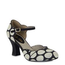 Ruby Shoo Annabel Black Spot Mid Heel Mary Jane Pumps UK 3-9 EU 36-42