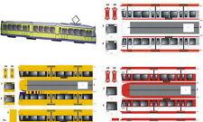 Straßenbahn Essen! Kartonmodell Bausatz Bastelbogen ! Diverse Fahrzeugtypen!