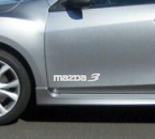 MAZDA 3 Mazdaspeed Hatchback Decal sticker emblem logo WHITE (PAIR)