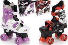 NEW Childrens Kids Boys Girls Osprey Adjustable 4 Wheel Quad Roller Skates Boots