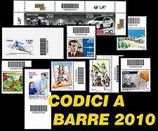 ITALIA 2010 Codici a Barre valore singolo a scelta Seconda Parte** ITALY Barcode