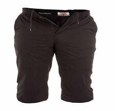 *NEW* Mens Big Size Duke Cotton Longer Length Shorts 3XL 4XL 5XL 6XL Black Khaki