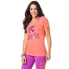 Zumba  - I Love Zumba Hi Lo Hem Tee - Coral - All sizes! Free Shipping!