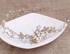 Diamante Bridal Headdress Pearls Wedding Headpiece Crystal Hair Headband 1 Piece