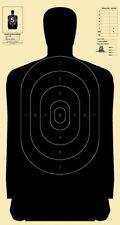 "B-27 50-Yard Police Pistol Silhouette Target, Full 45"" length, Color Options"