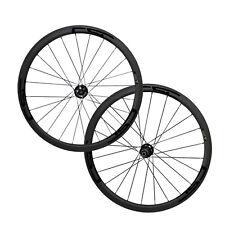 CSC Disc Brake Thru Axle hub 38mm Tubular Carbon Cyclocross Wheels 20.5 ,23,25mm