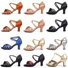 Latin Dance Shoes For Women Ladies Girls Ballroom Tango 5/7CM Heel Dancing Shoes