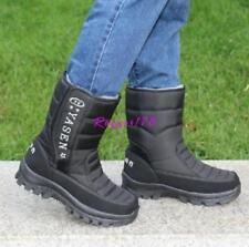 Men's Warm Winter Snow Warm Ankle Boot Thicken Waterproof Shoes Fleece US SIZE