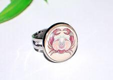 STERNZEICHEN Ring +++ AUSWAHL ++ Horoskop Fingerring silber verstellbar Cabochon